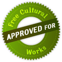 "logo ""approved for free cultural woks"""