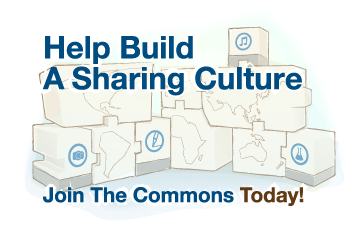 Help Build A Sharing Culture. Join The Commons.