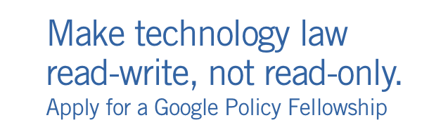 Google Policy Fellowship Header