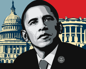 Shepard Fairey's Obama