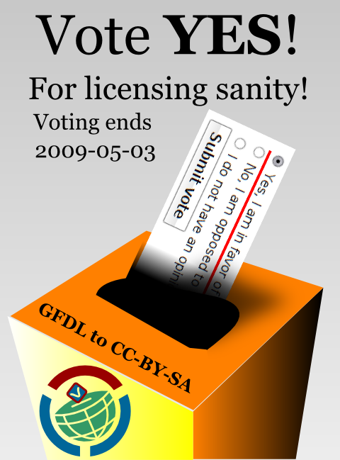Vote YES! For licensing sanity!