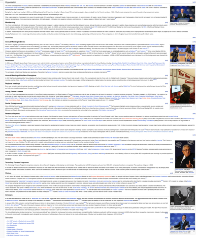 World Economic Forum - Wikipedia, the free encyclopedia