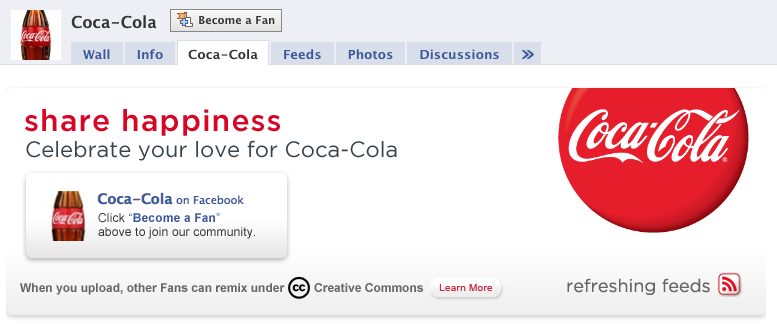 Coca-Cola Using Coke on Facebook