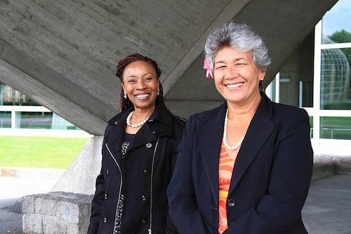 Ms. Catherine Ngugi and Letuimanu'asina Dr. Emma KRUSE VA'AI