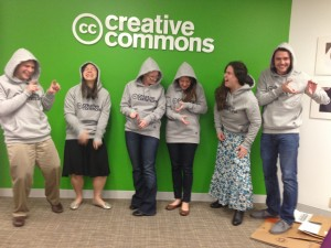Current intern Billy (right) models swag with other CC staff