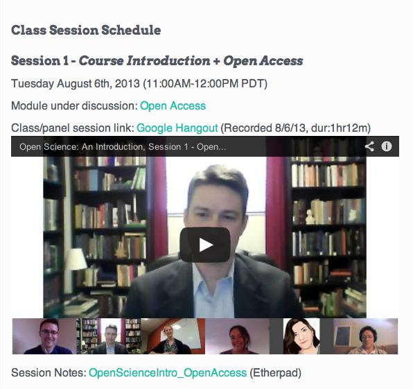 Screen Shot of P2PU Online Course