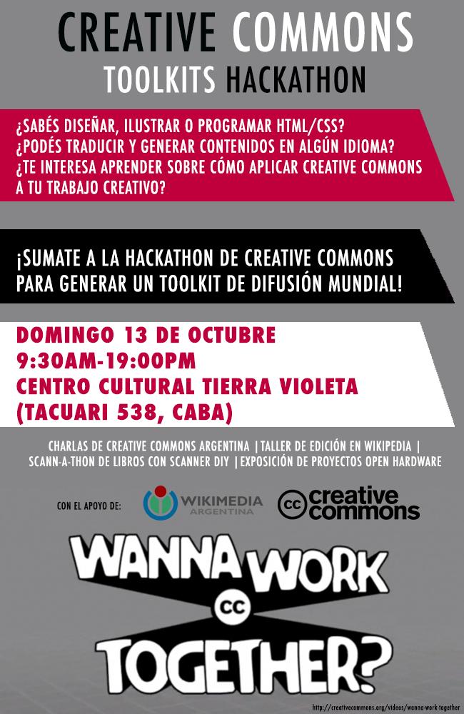 CC Toolkits Design Hackathon Announcement Flyer