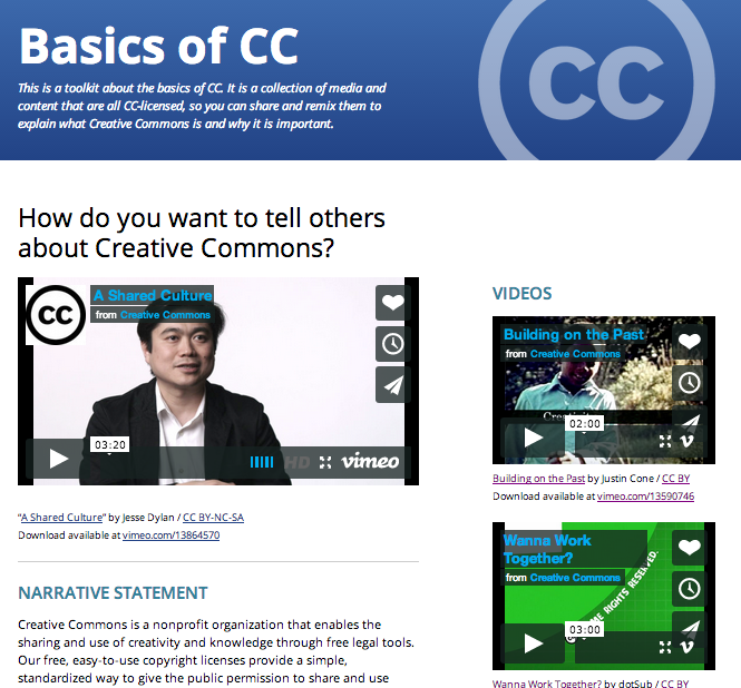 CC Toolkits Homepage