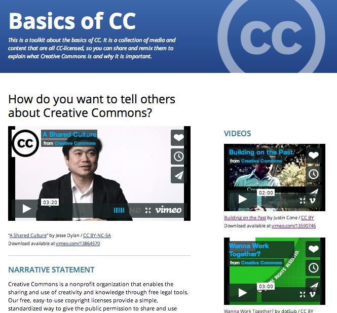 CC Toolkits Homepage