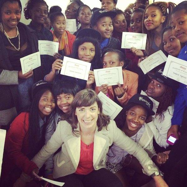 Code4CT girls with cc4kids certificates