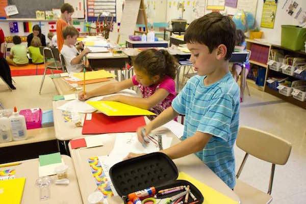 second grade writing class