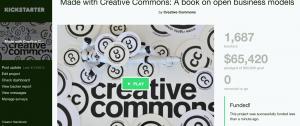Screenshot of Kickstarter