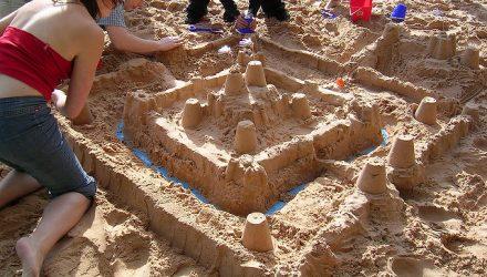 Sandcastle building image