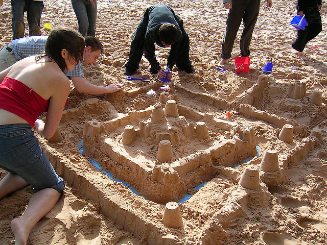 Sandcastle building image