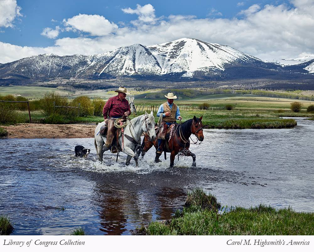Cowboys at Park Range Range near Walden, Colorado