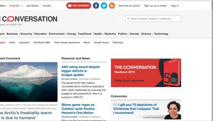 The Conversation AU Front Page