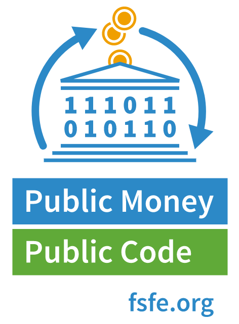 the free software foundation europe and a broad group of including creative commons are supporting the public money public code campaign