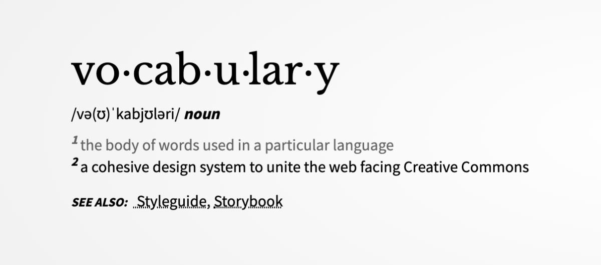 Vocabulary landing page