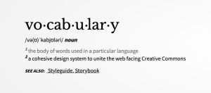 Vocabulary landing page