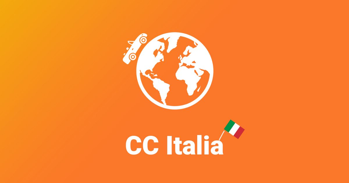 CC Italy flag with globe icon