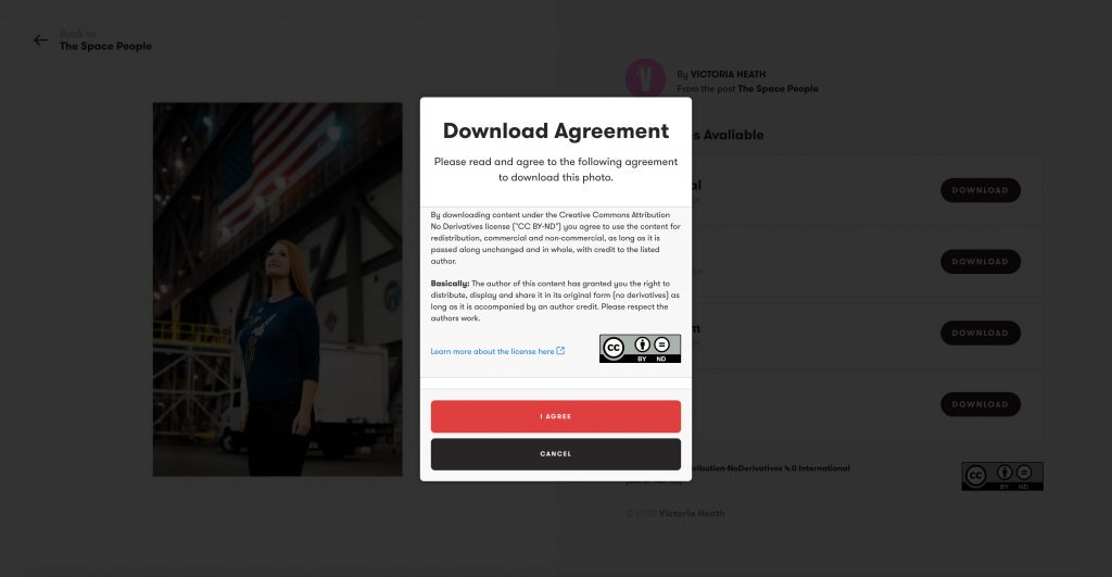 Exposure Screenshot of Download Agreement