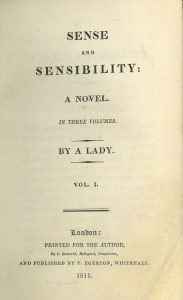 Sense and Sensibility original cover page