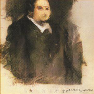 A blurry portrait of a man