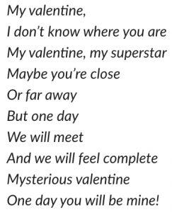 Poem written by Lisanne